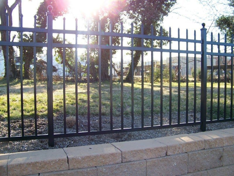 classic iron fence in Lexington park md