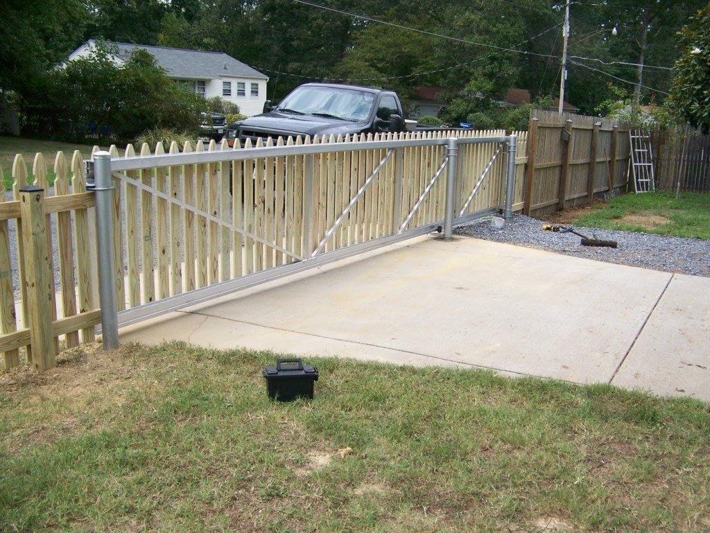 long gate wood fences in Brandywine