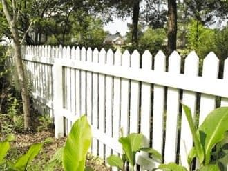 White Wood Fence In St. marys County