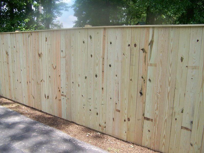 Flat Board Wooden fence in PG County
