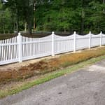 Large sample of vinyl residential fence in Lexington Park