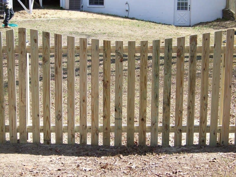 Spaced Oval of wood fences installed near me Brownsville