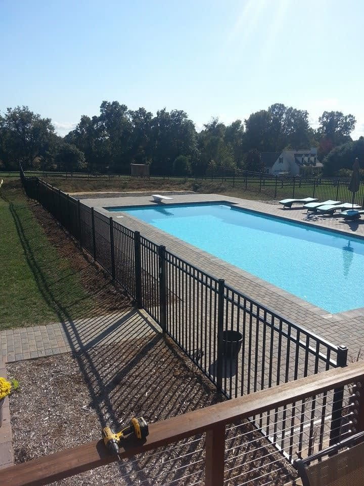 pool fencing iron fence in Maryland