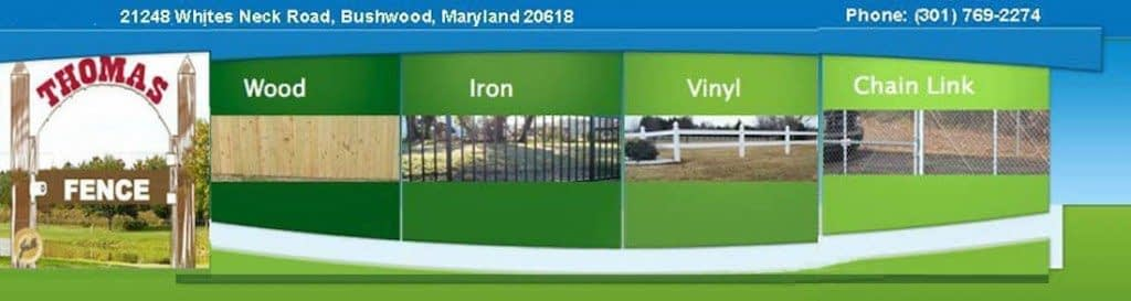 Southern MD Fence Services Header Banner