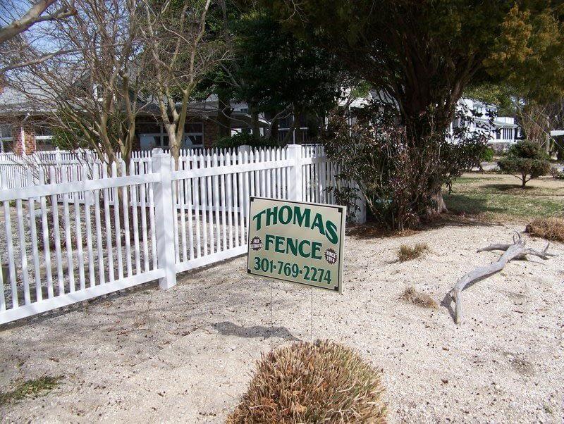 thomas fence sign near Chesapeake Beach