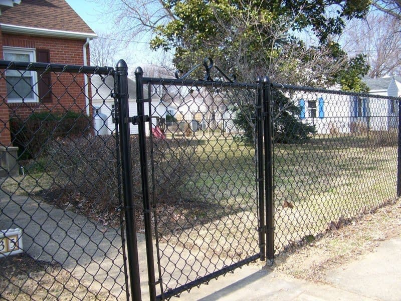 chain link fences around church in St. Mary's County