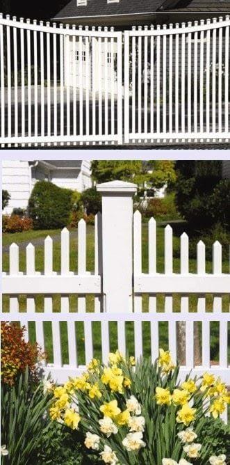 vinyl fence panel in Benedict