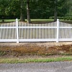 Long Gate vinyl fences in Lexington Park