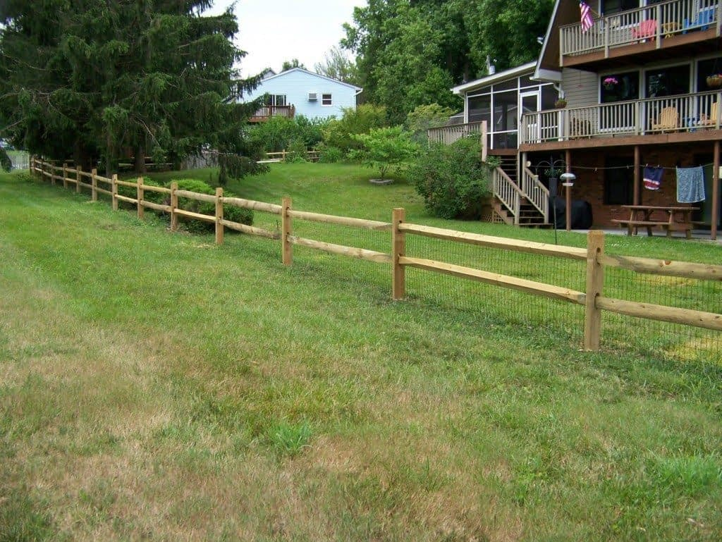 post fence in Tall Timbers