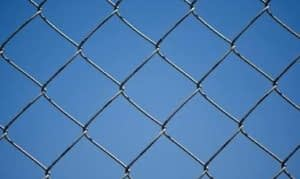 Chain Link Fence close up in Calvert County