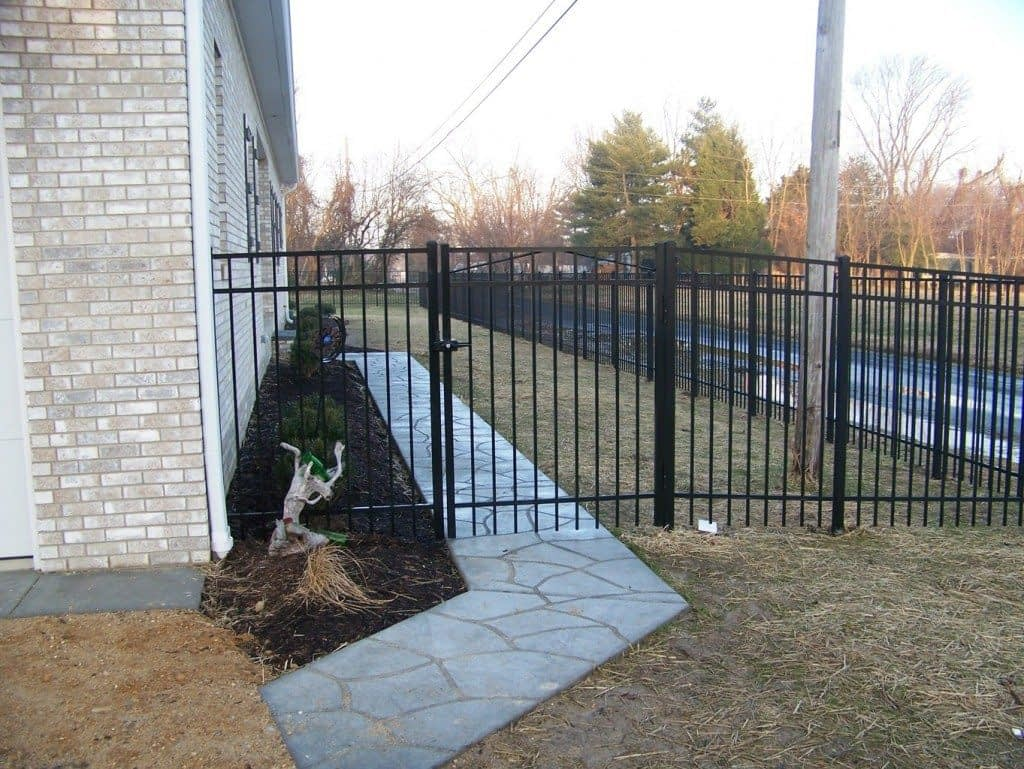 black wrought iron fence in Prince George's County
