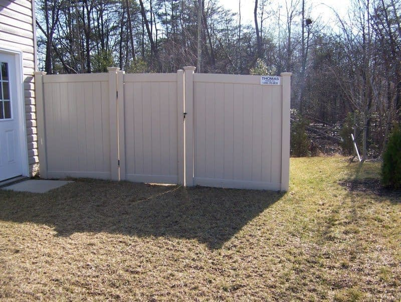 fence used to divide yards near in Calvert County