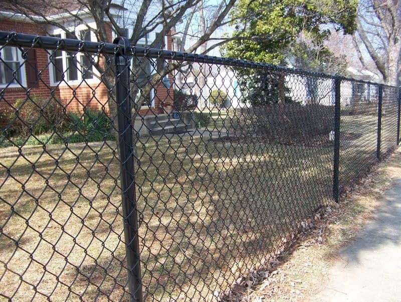 Black Chain Link fences in St. Mary's County