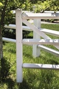 A post-and-rail fence
