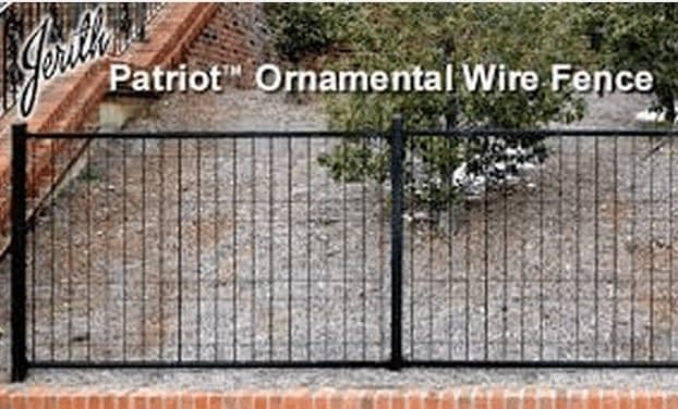 patriot ornamental wire fence in Chesapeake Beach