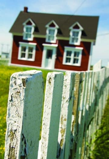 wood picket fences in my place Calvert Beach