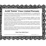 Patriot Fence Warranty Available in Maryland